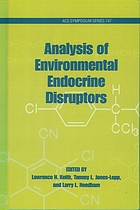 Analysis of environmental endocrine disruptors