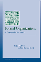 Formal organizations: a comparative approach