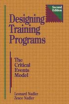 Designing training programs : the critical events model