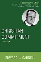Christian commitment : an apologetic