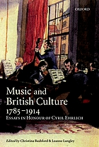 Music and British culture, 1785-1914 : essays in honour of Cyril EhrlichMusic and British culture, 1785-1914 : essays in honor of Cyril Ehrlich