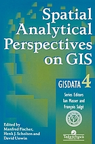 Spatial analytical perspectives on GIS