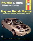 Hyundai Elantra automotive repair manual