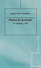 Frances Burney : a literary life