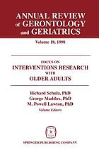 Focus on interventions research with older adults