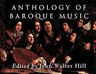 Anthology of Baroque music : music in Western Europe, 1580-1750