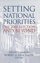 Setting national priorities : the 2000 election and beyond