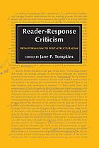 Reader-response criticism, from formalism to post-structural