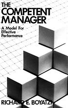 The competent manager : a model for effective performance