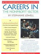 The Harvard Business School guide to careers in the nonprofit sector