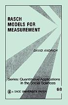 Rasch models for measurement