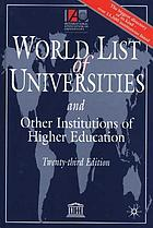 The world list of universities and other institutions of higher education