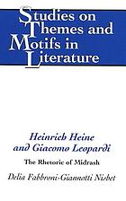 Heinrich Heine and Giacomo Leopardi : the rhetoric of Midrash