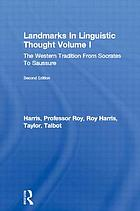 Landmarks in linguistic thought