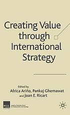 Creating value through international strategy