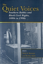 The quiet voices : southern rabbis and Black civil rights, 1880s to 1990s