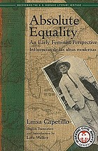 Absolute equality an early feminist perspective = Influencias de las ideas modernas