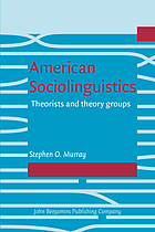 American Sociolinguistics Theorists and Theory Groups