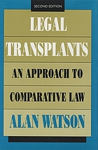 Legal transplants : an approach to comparative law