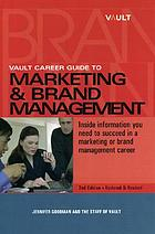 Vault career guide to marketing & brand management