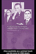 Korea's development under Park Chung Hee rapid industrialization, 1961-79