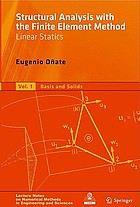 Structural Analysis with the Finite Element Method Linear Statics Volume 2. Beams, Plates and Shells