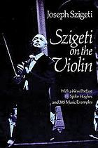 Szigeti on the violin