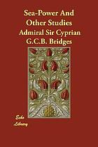 Sea-power, and other studies