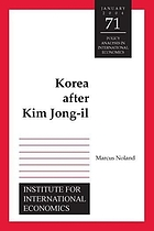 Korea after Kim Jong-Il