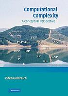 Computational complexity : a conceptual perspective