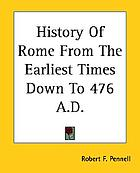 History of Rome from the earliest times