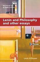 Lenin and philosophy, and other essays