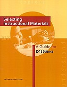 Selecting instructional materials : a guide for K-12 science
