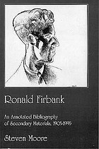 Ronald Firbank : an annotated bibliography of secondary materials, 1905-1995