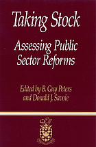 Taking stock : assessing public sector reforms
