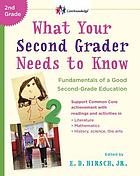 What your second-grader needs to know : fundamentals of a good first-grade [sic] education