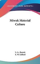 Miwok material culture