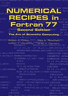 Numerical recipes in FORTRAN : the art of scientific computing