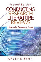 Conducting research literature reviews : from the Internet to paper