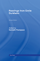 Readings from Emile Durkheim