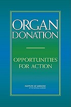 Organ donation : opportunities for action