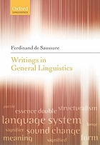 Writings in general linguistics