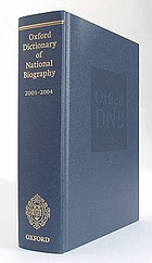 Oxford dictionary of national biography, 2001-2004