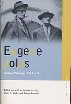 Eugene Jolas : critical writings, 1924-1951
