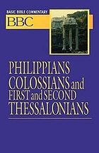 Philippians Colossians and first and second Thessalonians