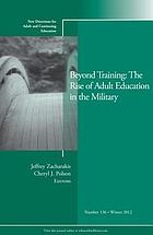 Beyond training : the rise of adult education in the military