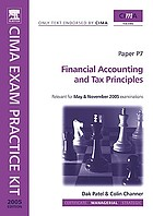 Financial accounting and tax principles : managerial level
