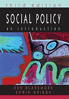 Social policy : an introduction