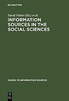 Information sources in the social sciences
