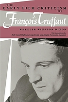 The early film criticism of François Truffaut